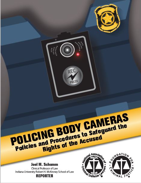 Cover image of the article which displays a body-worn camera recording